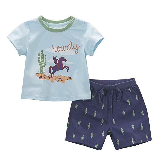 Set đồ bộ cotton trẻ em mặc nhà Dave Bella