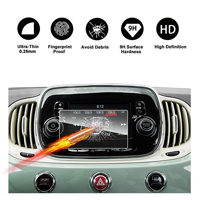 2016 2017 Fiat 500 uconnect màn hình cảm ứng xe màn hình navigation bảo vệ màn hình ruiya HD trong s