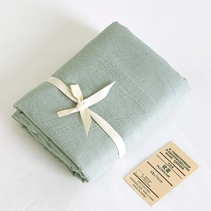 Bộ đồ giường cao cấp kiểu Nhật Bản Jeanpop Sợi dệt bằng sợi bông dệt bằng sợi bông Một cặp kích thíc
