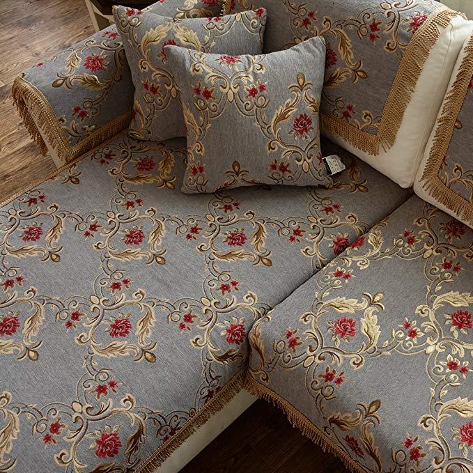 Le Wei Shi tùy chỉnh-thực hiện Châu Âu mục vụ sofa khăn bốn mùa thích hợp cho sofa đệm vải trượt non