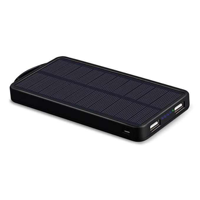 US ECTechnology điện thoại di động 10000 mAh LED khẩn cấp ngoài trời năng lượng mặt trời polymer điệ