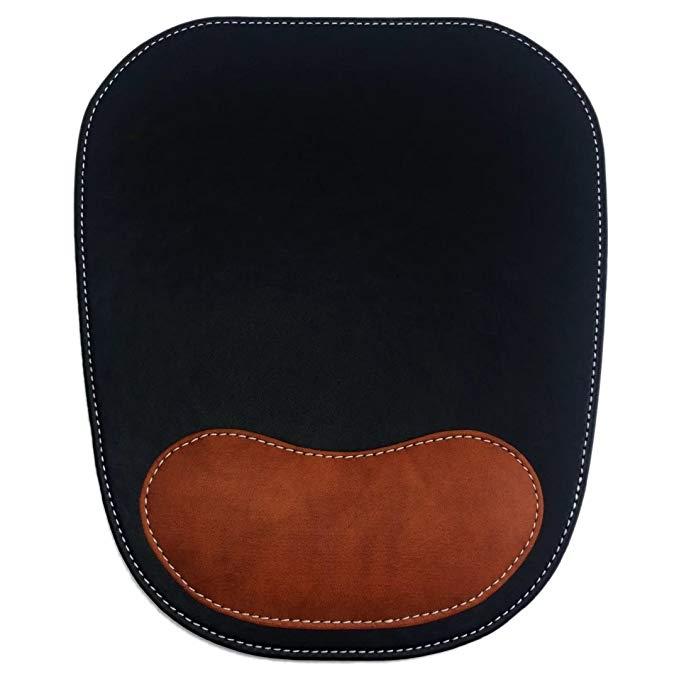 Dodolightness ergonomic da chuột pad với dây đeo cổ tay thoải mái * sponge bề mặt không thấm nước