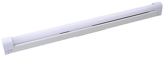 Đường ray phụ trợ neon 18 W G13 kim loại màu trắng 67,7 x 3,1 x 5,1 cm.