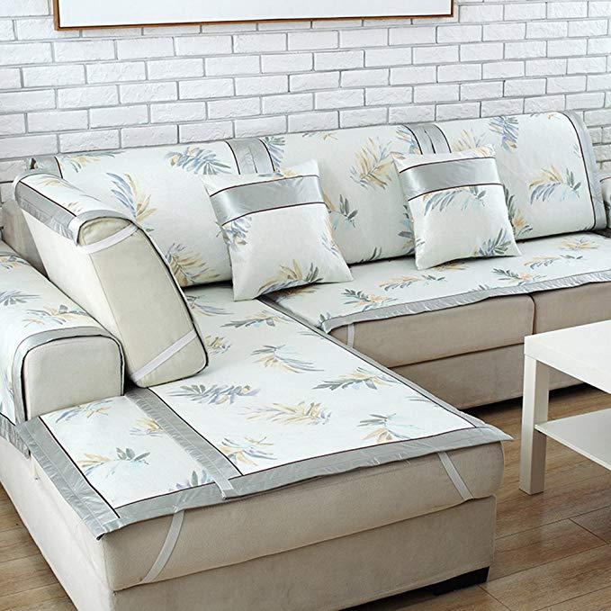 Ai Mei Huan Mùa Hè Băng Lụa Sofa Mat Mat Seat (Lá Khiêu Vũ 60 Bộ 2 (Cushion Cover / 60/120/150/180 T