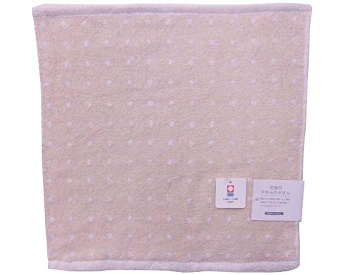 Khăn siêu mềm Khăn Khăn màu be Imabari 34 × 35 cm wb030328 Sản xuất tại Nhật Bản