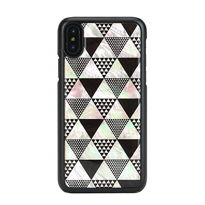 iKins iPhone X vỏ tự nhiên vỏ điện thoại di động Kim tự tháp hộp đen (kim tự tháp) Apple trường hợp