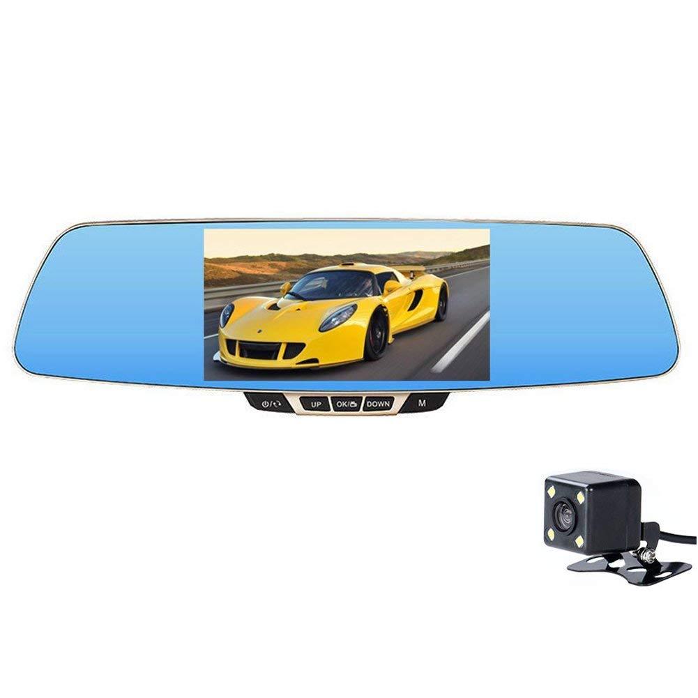 Whirldy W450 xe cẩu ghi gương chiếu hậu 5.0 inch màn hình xe quay độ nét cao ghi âm đôi bởi 12 triệu