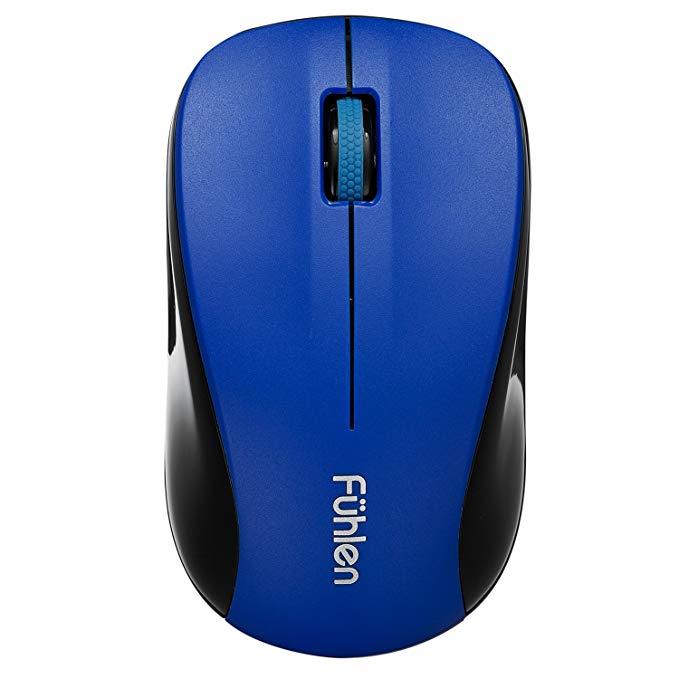 Fuhlen Fuller M75 Im lặng tiết kiệm năng lượng Chuột không dây màu xanh (Tiết kiệm năng lượng chuột