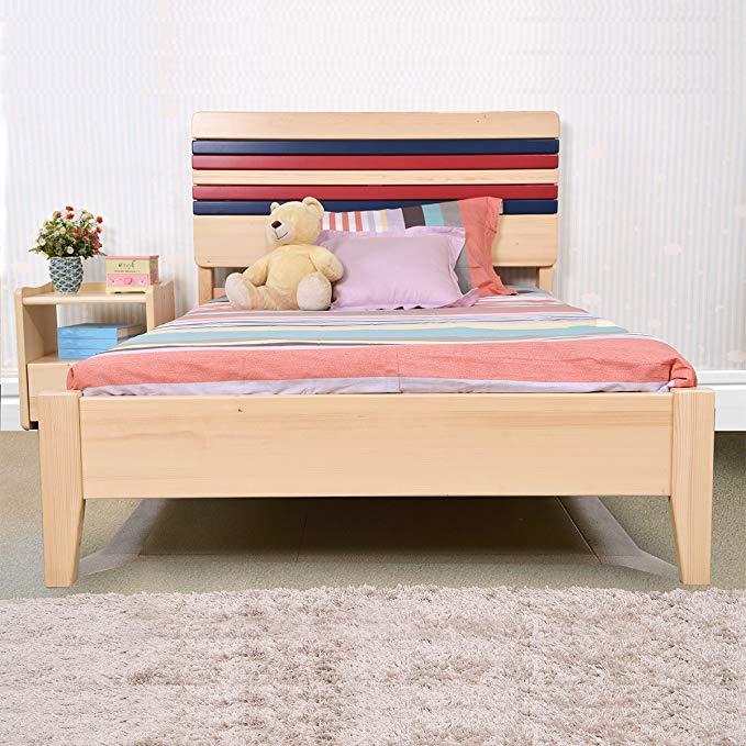 Sampo Songbao Kingdom Bắc Âu thông giường đơn lớp gỗ rắn giường trẻ em 1.9 * 1.2 m