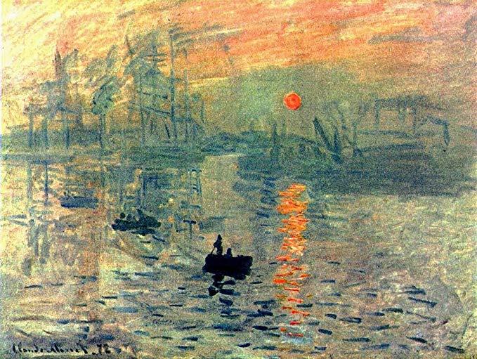 Wieco nghệ thuật hoàng hôn vải của Claude Monet sơn dầu nghệ thuật vi phun nghệ thuật trang trí tườn