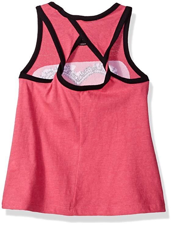 Áo thun ba lỗ màu hồng hình trái tim Calvin Klein