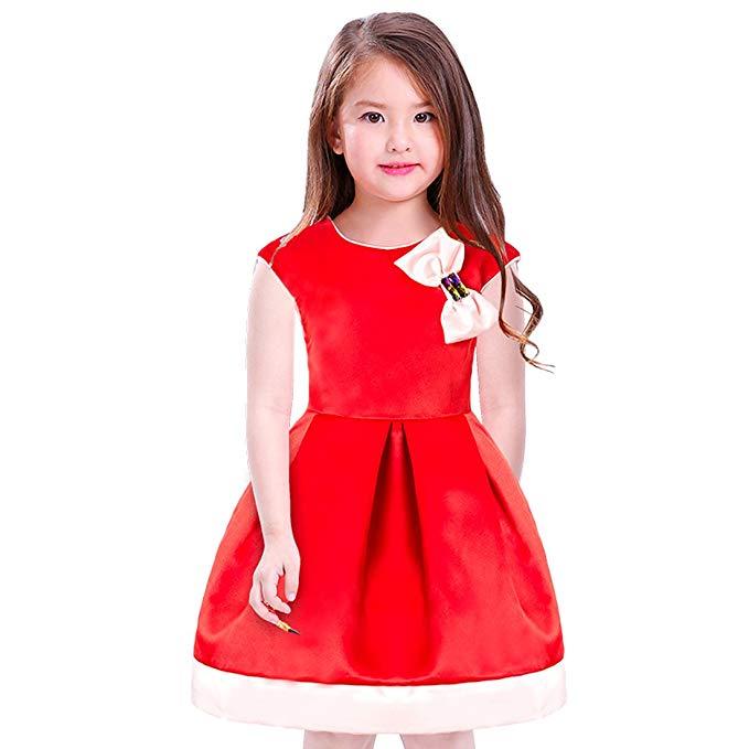 Váy đỏ suôn dài cho bé gái JIARUILIN