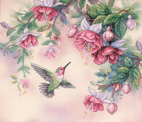 Tranh thêu chữ thập hình chim và hoa Dimensions Needlecrafts