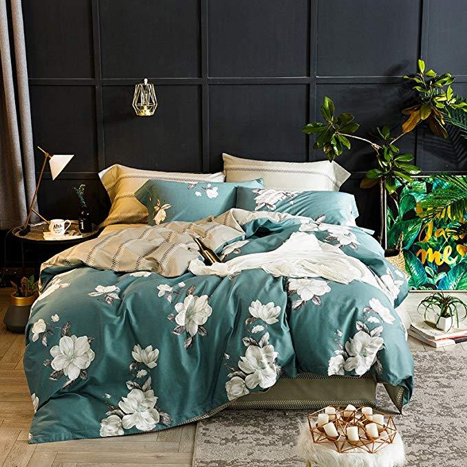 J.H.Longess bông 60 dài-staple bông giường bốn mảnh đặt 1.8 m giường in satin dài-staple bông 1.5 m