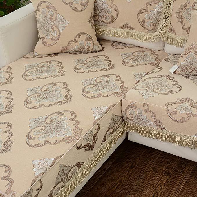 Le Wei Shi chenille sofa mùa hè, phù hợp với đệm tùy chỉnh thực hiện đầy đủ bìa rắn gỗ vải Châu Âu-s