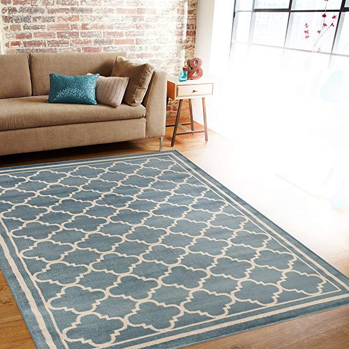 Thảm kẻ sọc, thảm nhỏ có thiết kế hiện đại, 3 ft 3 in (khoảng 99 cm) x 5 ft. 3 in. (Khoảng 160 cm),