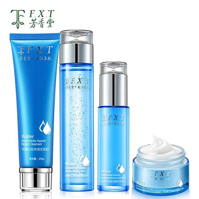 Chăm sóc da của phụ nữ Mỹ phẩm Dưỡng ẩm Da (Toner + Lotion + Sữa rửa mặt + Kem dưỡng mặt)