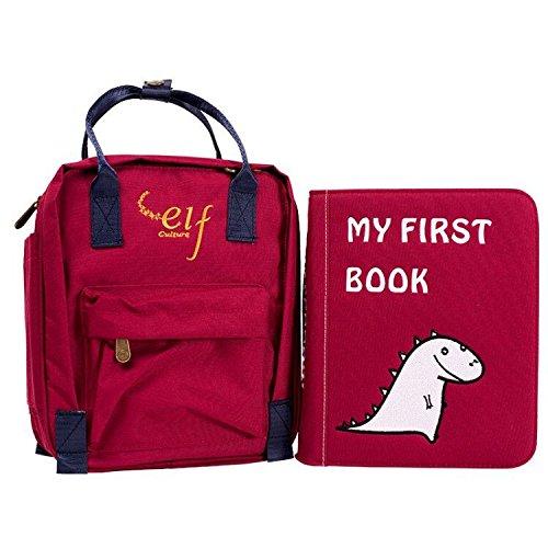Sách vải trẻ em Montessori màu đỏ [1-3 tuổi] My First Book
