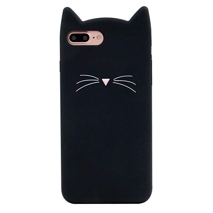 Didicose thời trang 3 d phim hoạt hình nhân vật động vật đen may mắn tài sản plutus mèo kitty cao su
