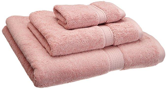 Cao cấp 900g egyptian bông 3 mảnh khăn đặt tăng màu hồng