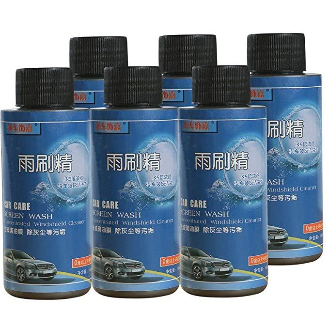 Chạy xe trang trí Jia 100 ml tập trung nước thủy tinh gạt nước tốt kính chắn gió sạch hơn (6 chai)