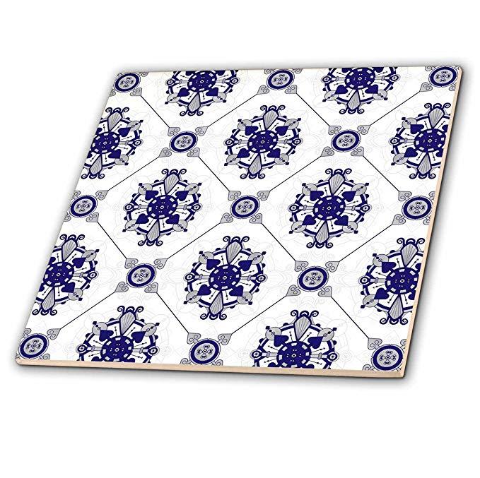CT _ 192861 janna salak Thiết kế bản in và kiểu dáng - phù hiệu xanh và trắng thanh lịch - gạch