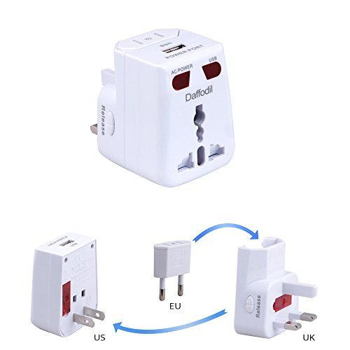 Anh thương hiệu Daffodil WAP150 USB du lịch chuyển đổi năng lượng phổ travel chuyển đổi ổ cắm đa chứ