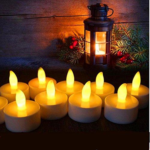 LACGO Flameless LED Tea Light Candle, Flameless Candle, Vô hại Tea Light, White Box, Vàng LED Light,