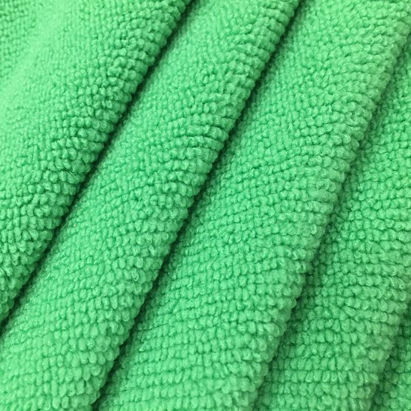 Hai mặt terry vải dày siêu mịn sợi polyester khăn vải không rụng tóc rửa xe khăn tóc vải vải