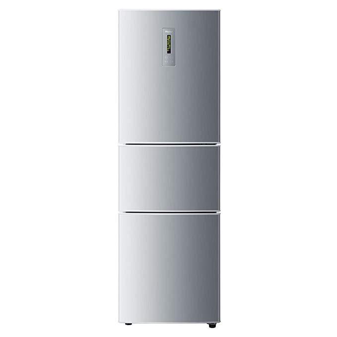 Haier Haier BCD-216SDN 216 lít Tủ lạnh ba cửa Cổ điển xuất hiện đơn giản Phong cách kim loại brushed