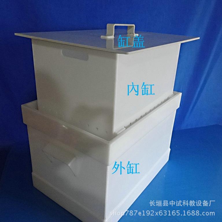 Phòng thí nghiệm khử trùng được rửa sạch ngâm đồ thủy tinh đặc biệt cơ sở 100 lít dung nạp axit lu l