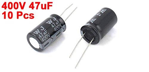 Sourcingmap a14121700ux0351 16 X 27 MM 400 V 47 UF RADIAL Chì Tụ điện phân - các loại Màu (10 cái)
