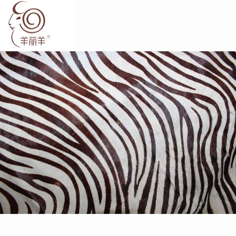 Nhà máy bán buôn da ngựa lông một cao cấp quần áo vải ngựa vằn mô hình lông ngựa