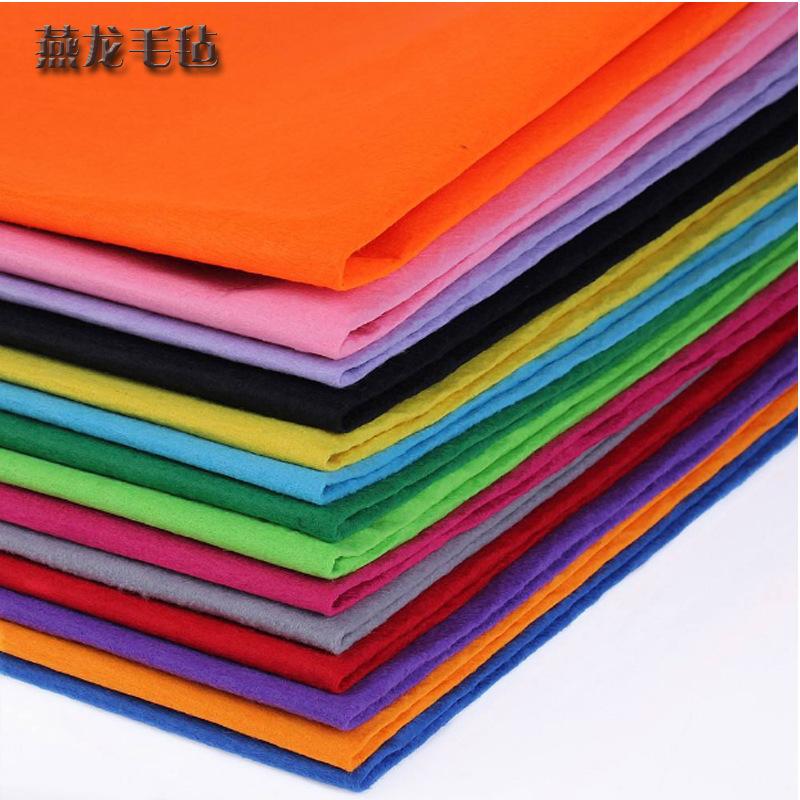 [Cảm thấy] nhà sản xuất bán buôn đánh bóng len màu cảm thấy vải Màu công nghiệp len cảm thấy chế biế