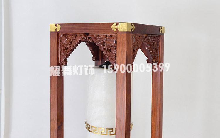 Điều nhuộm đèn đặt dưới đất Trung Quốc cổ điển mới phức tạp gỗ giáng hương đèn phòng khách phòng trà