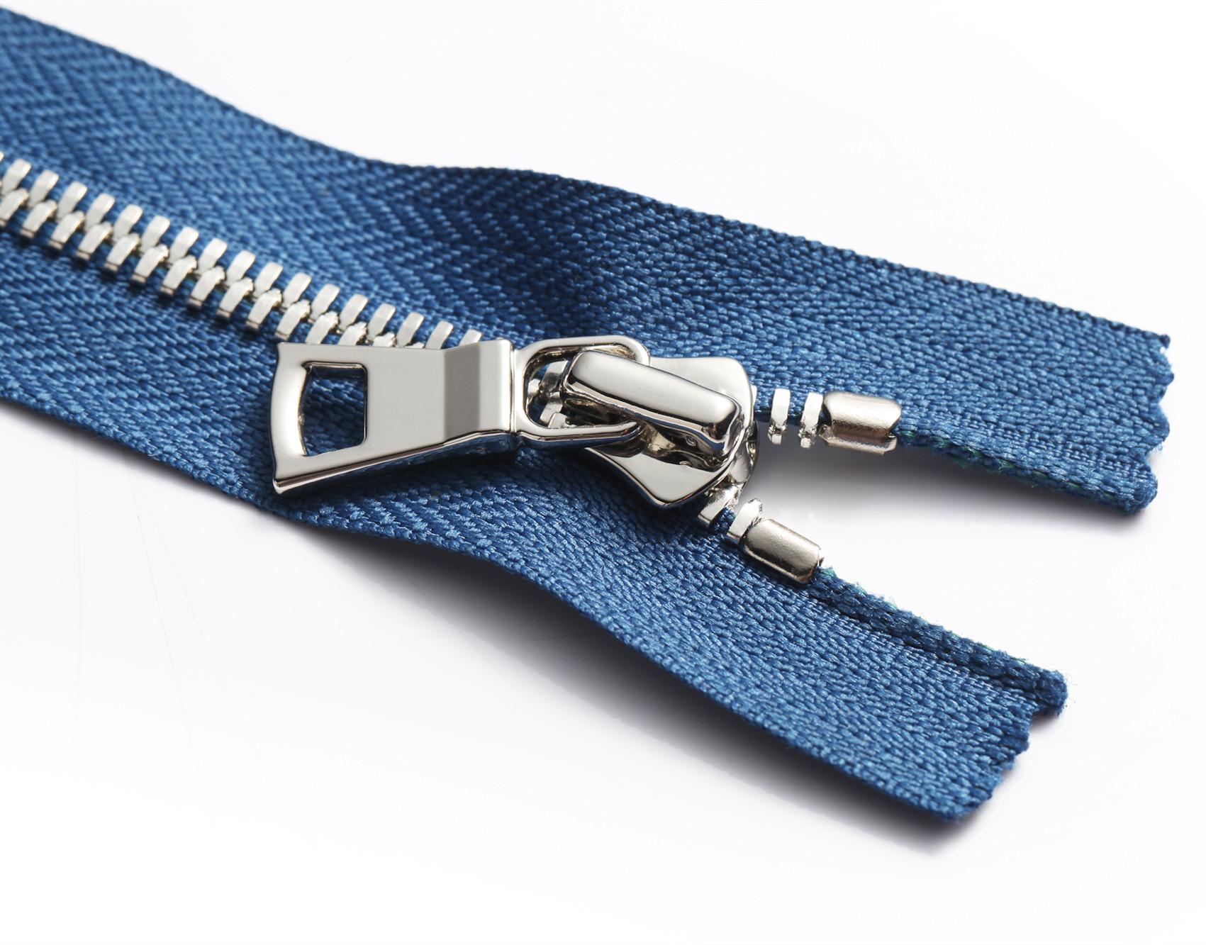 5 # kim loại trường hợp da mã hàng hóa dây kéo. Cao cấp ngô răng dây kéo. Mở đuôi quần áo dây kéo qu