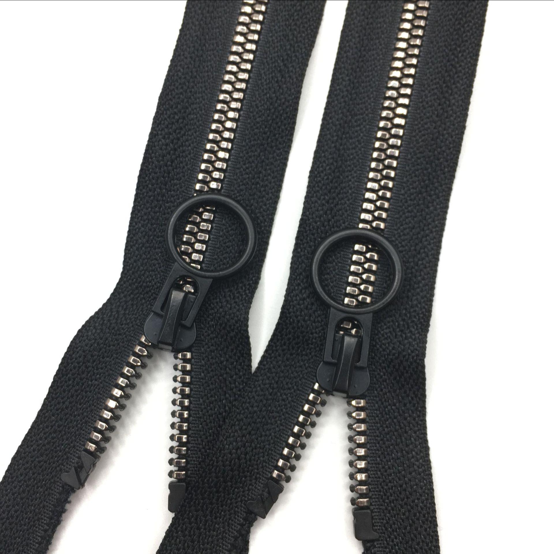 Nhà sản xuất dây kéo bán buôn nhựa tùy chỉnh dây kéo thứ nhựa dây kéo nhựa dây kéo mạ răng mở đuôi d
