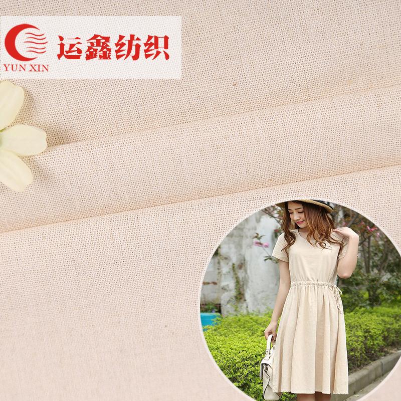 Nhà máy bán hàng trực tiếp off-the-shelf cotton linen vải mùa xuân và mùa hè quần áo gối nhà dệt vải