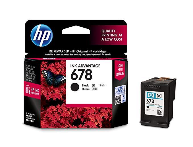 HP HP CZ107AA 678 Hộp mực đen + CZ108AA 678 Hộp mực màu được đặt cho HP Deskjet 2548 3548 4518 1518