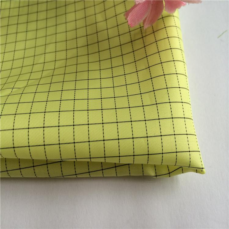 Polyester taffeta dẫn điện vải 100D * 100D đặc điểm quần áo vải nhà máy bán hàng trực tiếp của sợi h