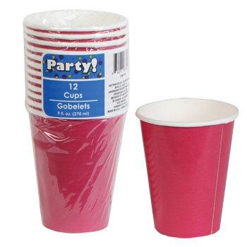 Cốc giấy màu Đảng Màu hồng 9 oz