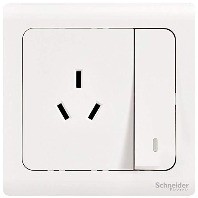 Schneider Điện Chuyển Đổi ổ cắm Bảng 10A ba lỗ socket với switch Tường