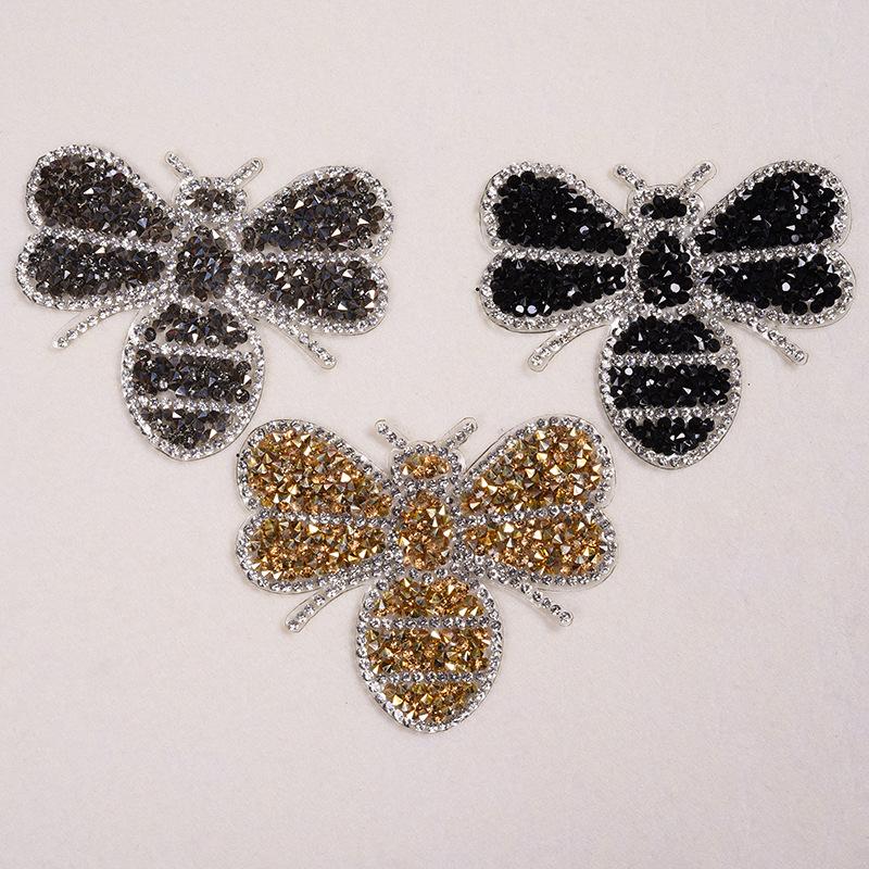 Thời trang tinh tế thạch khoan ong nhỏ nóng chảy nóng chảy dính lưới khoan nóng vải dán bản đồ nóng