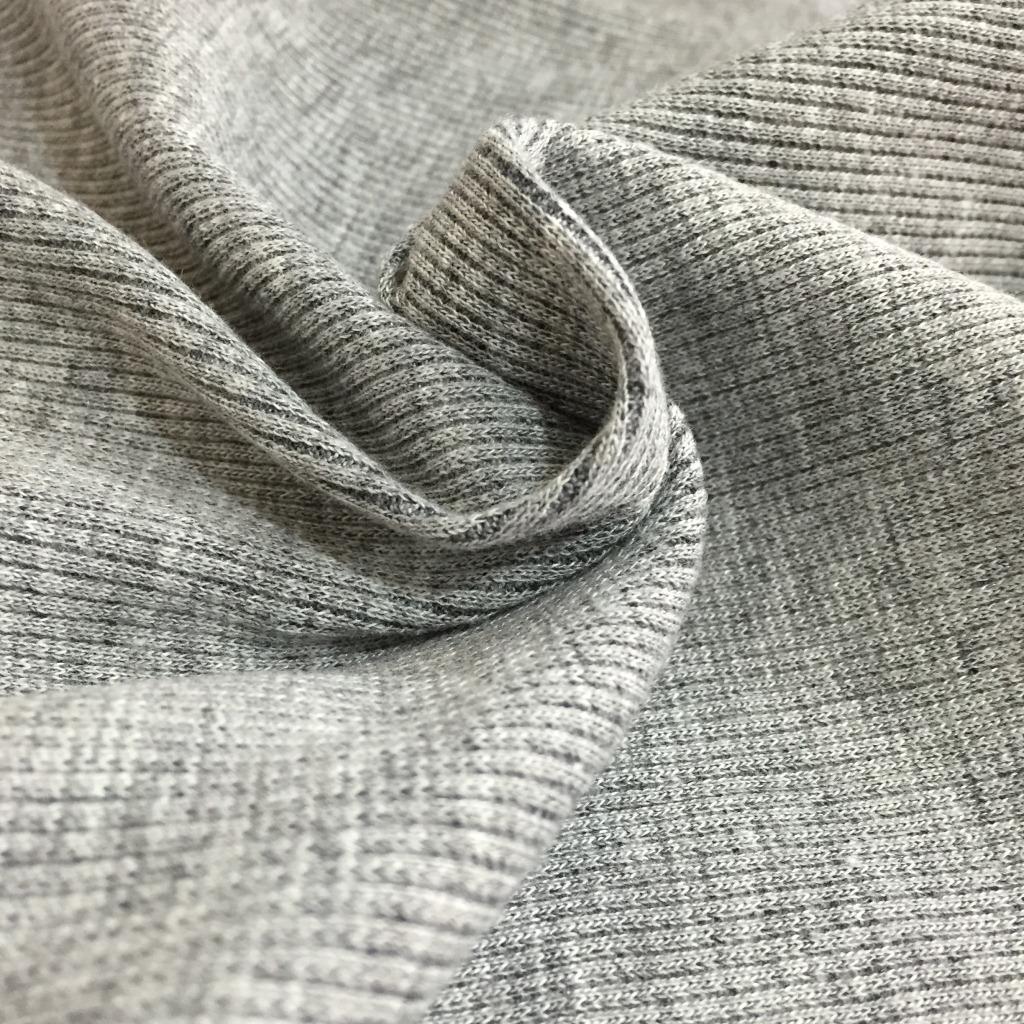 Cotton sườn 21 chải kỹ 2 * 2 cotton cộng với ammonia dệt kim sườn vải cuff đường viền cổ áo vải 280
