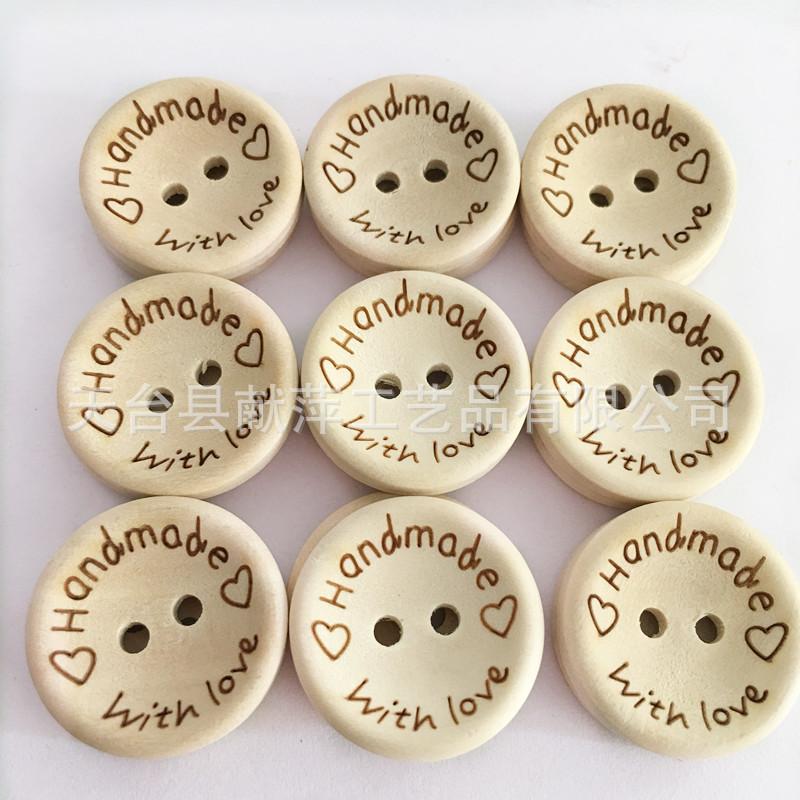 Tại chỗ đặc biệt cung cấp AliExpress loại nổ loại bát khắc handwithlove handmade nút gỗ Sáng Tạo