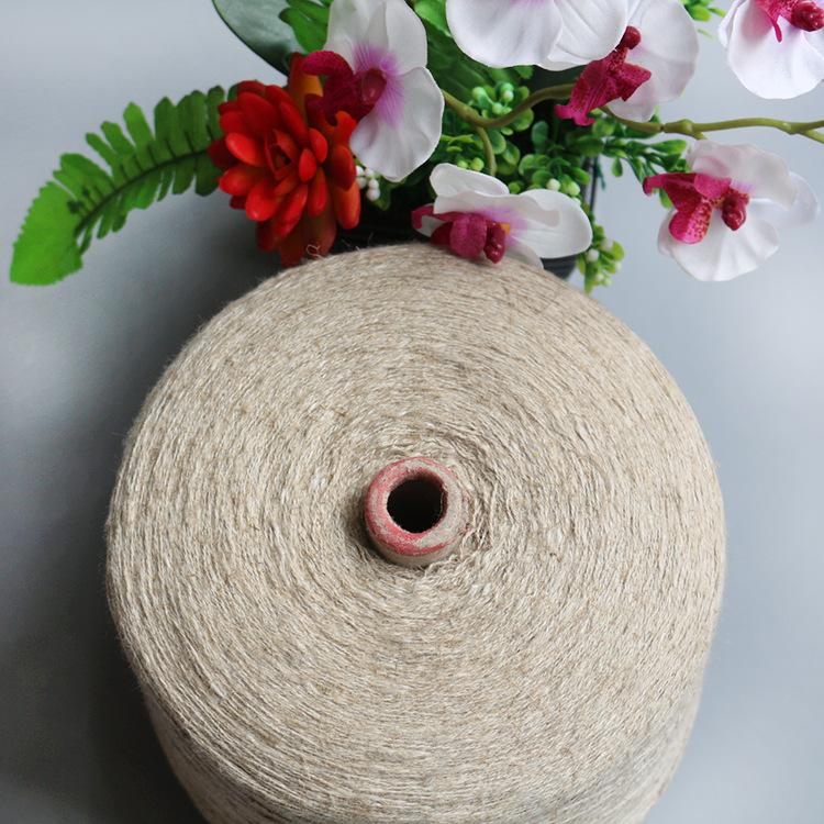 Nhà máy trực tiếp linen sợi dệt kim phẳng máy vòng máy Quảng Đông linen quay linen 55% linen 45% cot