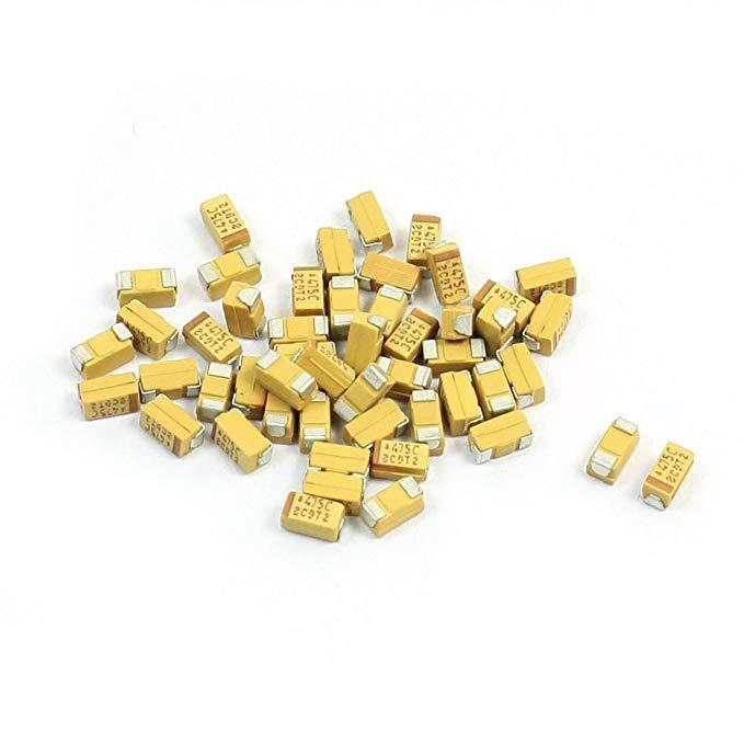 Sourcingmap a14041500ux0194 3,5 x 2 x 2 mm 4,7 μf 16 V 3216 Bề mặt TYPE MOUNT Tantali Chip Tụ - đa m