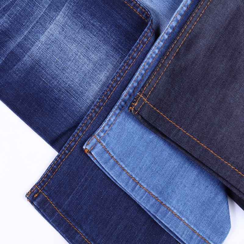 Nhà máy trực tiếp cotton sliver mượt stretch denim quần jeans vải tại chỗ