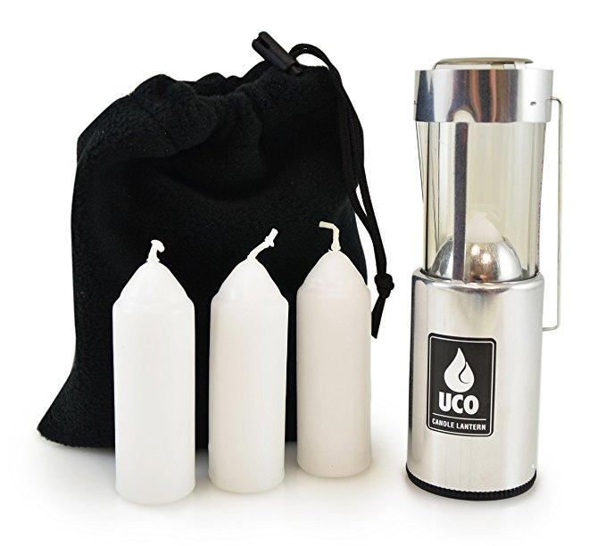 Gói lồng đèn lồng đèn UCO Original với 3 ngọn nến và túi lưu trữ