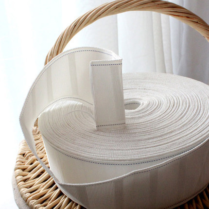 Rèm móc vải với rèm cửa dây đai rèm phụ kiện phụ kiện vải trắng với dày / mã hóa